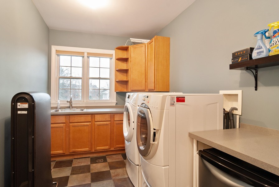 Real Estate Photography - 7310 Holly Ct, River Forest, IL, 60305 - Laundry Room