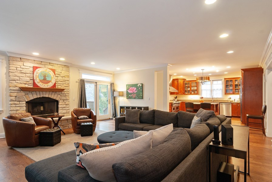 Real Estate Photography - 7310 Holly Ct, River Forest, IL, 60305 - Family Room / Kitchen