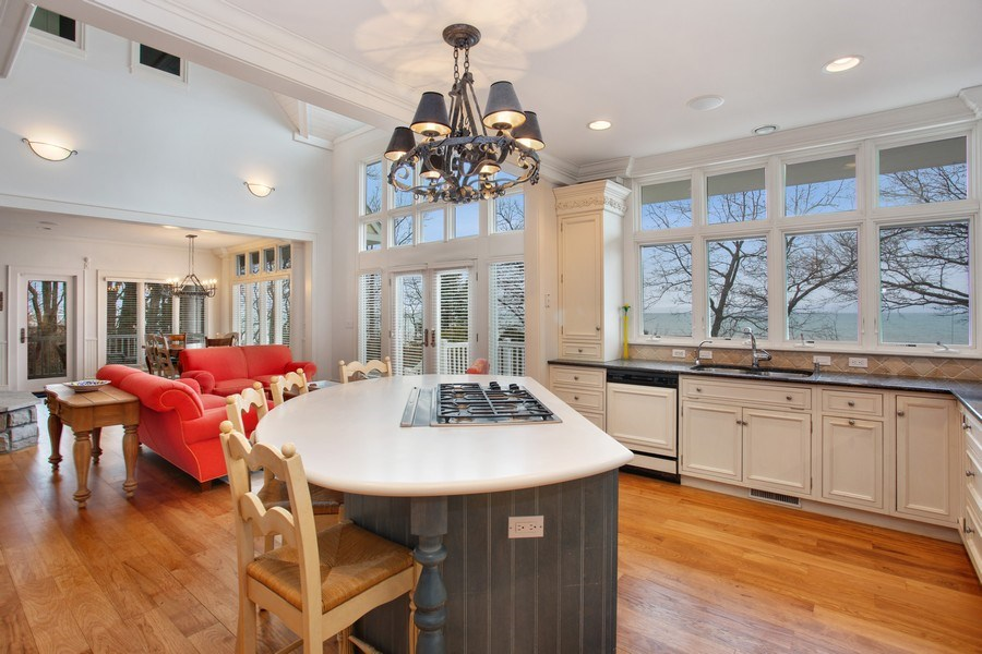 Real Estate Photography - 13173 Sunset Point, New Buffalo, MI, 49117 - Lake Views From Kitchen