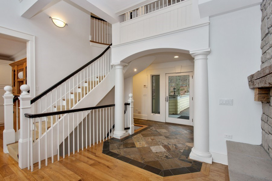 Real Estate Photography - 13173 Sunset Point, New Buffalo, MI, 49117 - Foyer with Slate Floor
