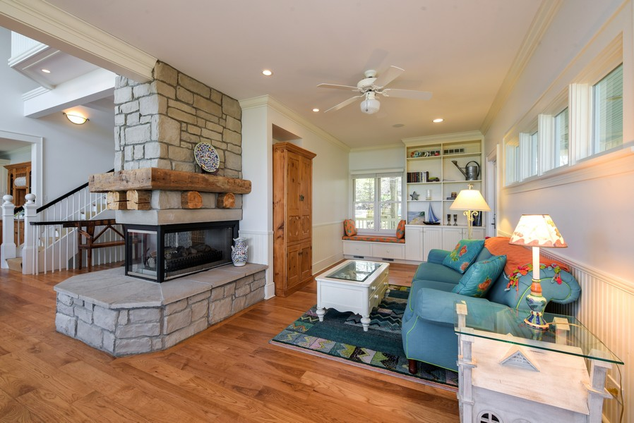 Real Estate Photography - 13173 Sunset Point, New Buffalo, MI, 49117 - 2 Sided Fireplace