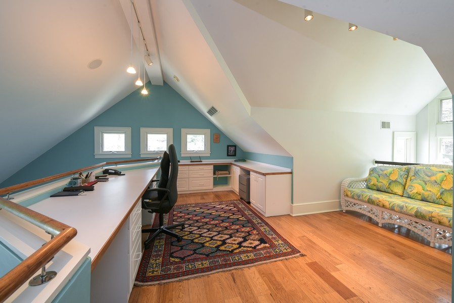 Real Estate Photography - 13173 Sunset Point, New Buffalo, MI, 49117 - Private Home Office Loft Off Master Suite