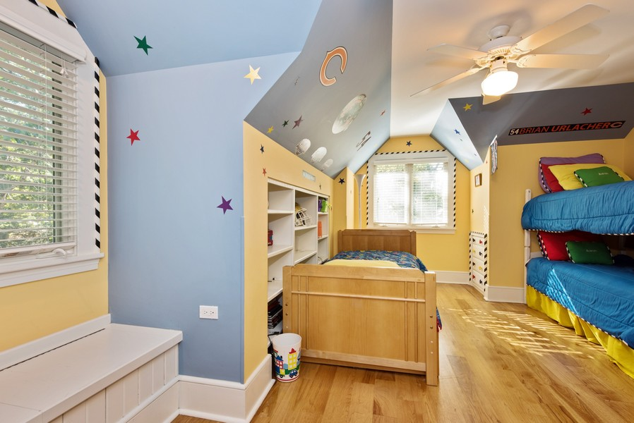Real Estate Photography - 13173 Sunset Point, New Buffalo, MI, 49117 - Bedroom 4 with Built-In Shelving