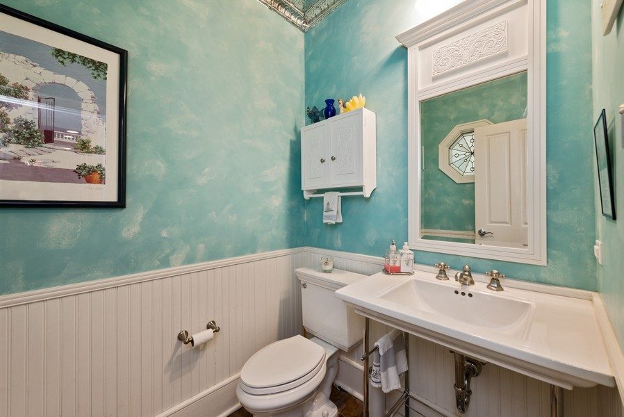 Real Estate Photography - 13173 Sunset Point, New Buffalo, MI, 49117 - 1st Floor Half Bath
