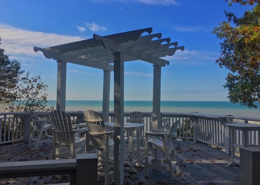 Real Estate Photography - 13173 Sunset Point, New Buffalo, MI, 49117 - Lake Front Gazebo