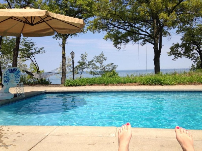 Real Estate Photography - 13173 Sunset Point, New Buffalo, MI, 49117 - Salt Water In-ground Pool