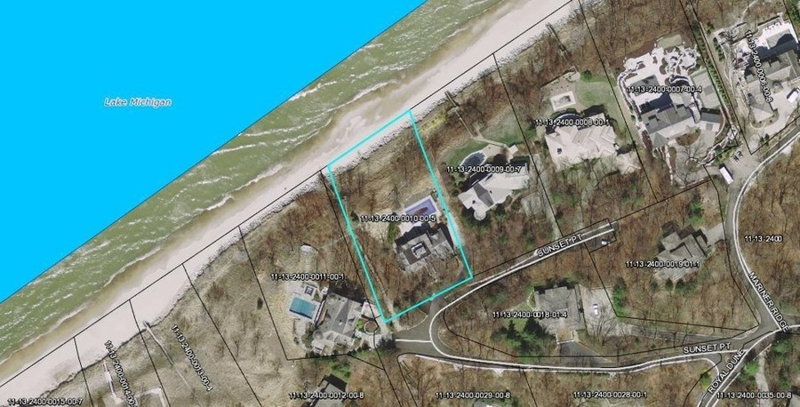 Real Estate Photography - 13173 Sunset Point, New Buffalo, MI, 49117 - Aerial of Lot