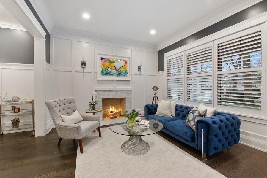 Real Estate Photography - 467 Provident Avenue, Winnetka, IL, 60093 - Living Room