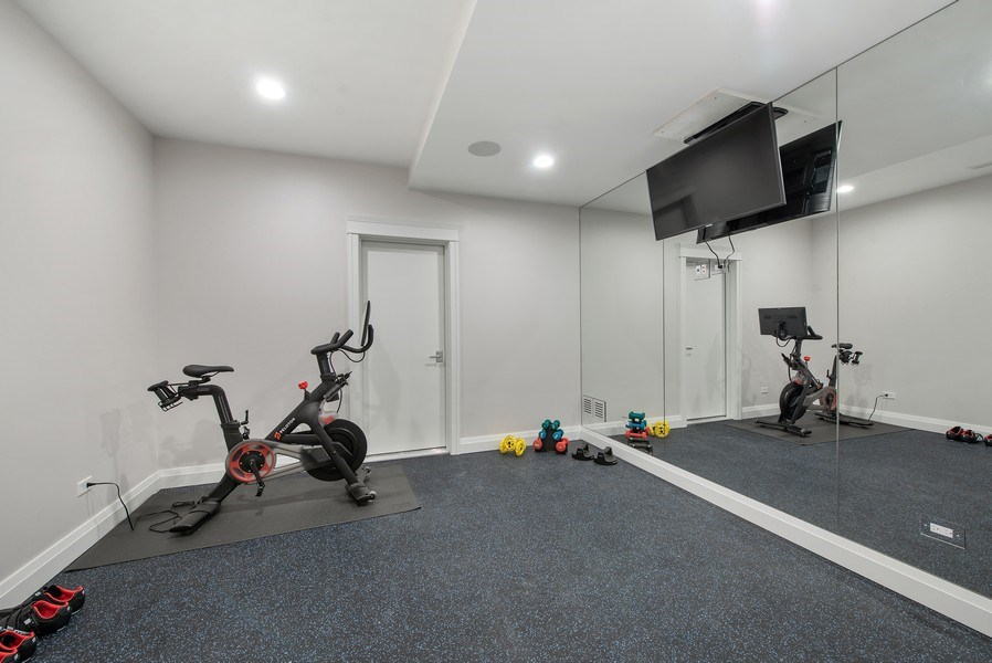 Real Estate Photography - 467 Provident Avenue, Winnetka, IL, 60093 - Exercise Room