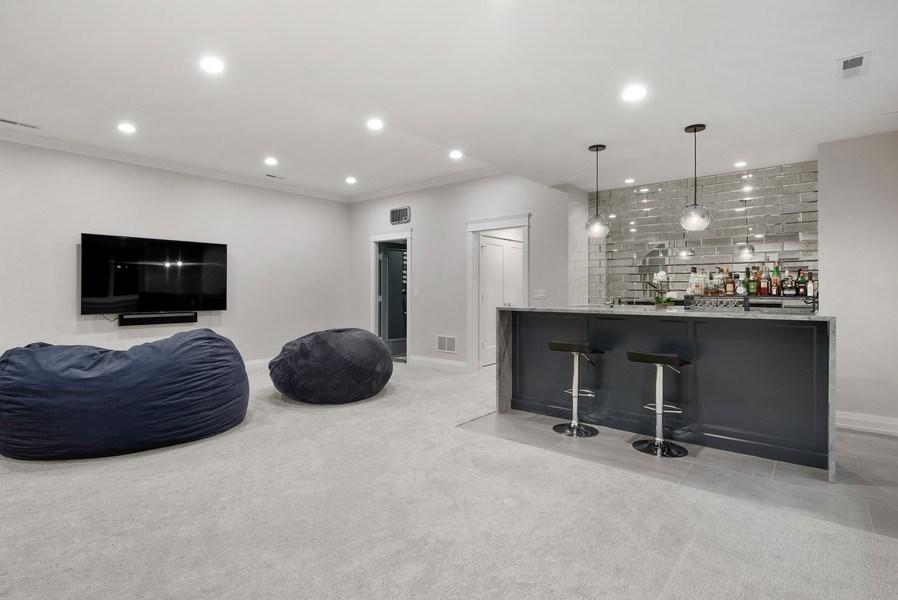Real Estate Photography - 467 Provident Avenue, Winnetka, IL, 60093 - Recreational Room