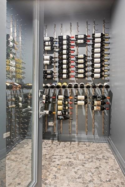 Real Estate Photography - 467 Provident Avenue, Winnetka, IL, 60093 - Wine Cellar