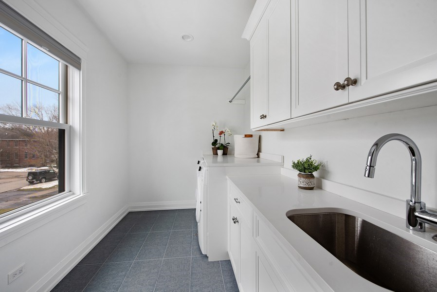 Real Estate Photography - 467 Provident Avenue, Winnetka, IL, 60093 - Second Floor Laundry Room