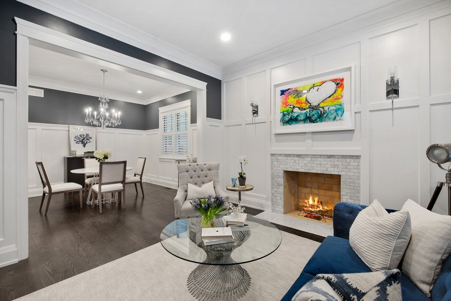 Real Estate Photography - 467 Provident Avenue, Winnetka, IL, 60093 - Living Room/Dining Room