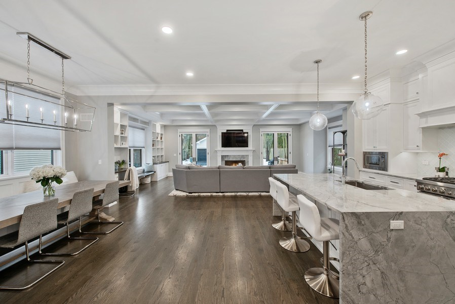 Real Estate Photography - 467 Provident Avenue, Winnetka, IL, 60093 - Family Room / Kitchen