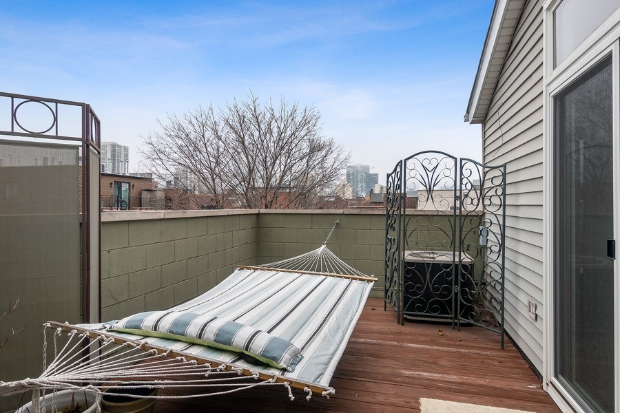 Real Estate Photography - 1541 N. North Park Avenue, #3S, Chicago, IL, 60610 - Deck off Master Bedroom