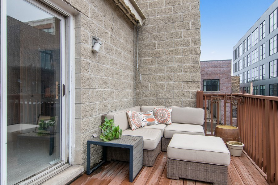 Real Estate Photography - 1541 N. North Park Avenue, #3S, Chicago, IL, 60610 - Deck off 3rd Bedroom