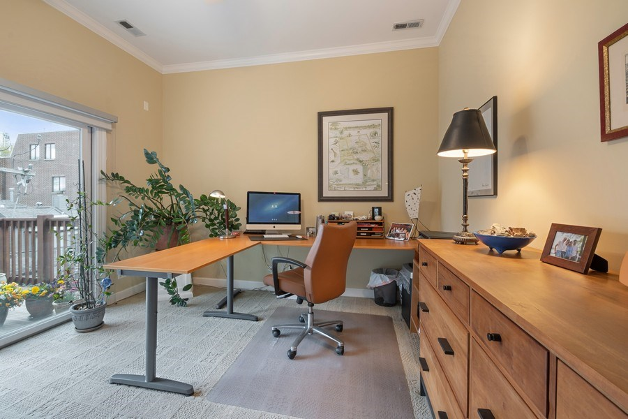 Real Estate Photography - 1541 N. North Park Avenue, #3S, Chicago, IL, 60610 - 3rd Bedroom/Office