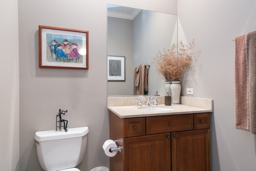 Real Estate Photography - 1541 N. North Park Avenue, #3S, Chicago, IL, 60610 - 1/2 Bath on Main Level