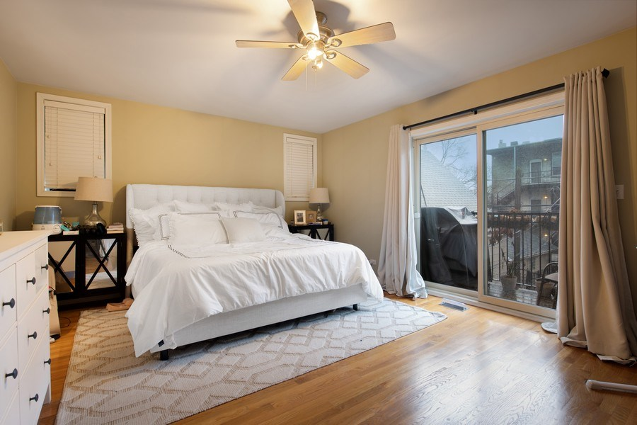 Real Estate Photography - 3509 N. Reta Ave, #2, Chicago, IL, 60657 - Master Bedroom