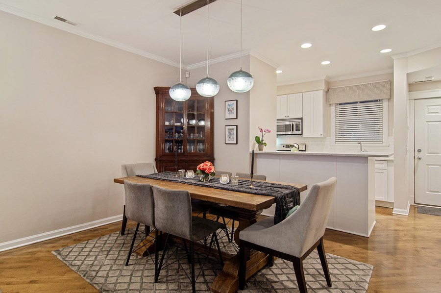 Real Estate Photography - 2500 Seminary, 3W, Chicago, IL, 60614 - Dining Room