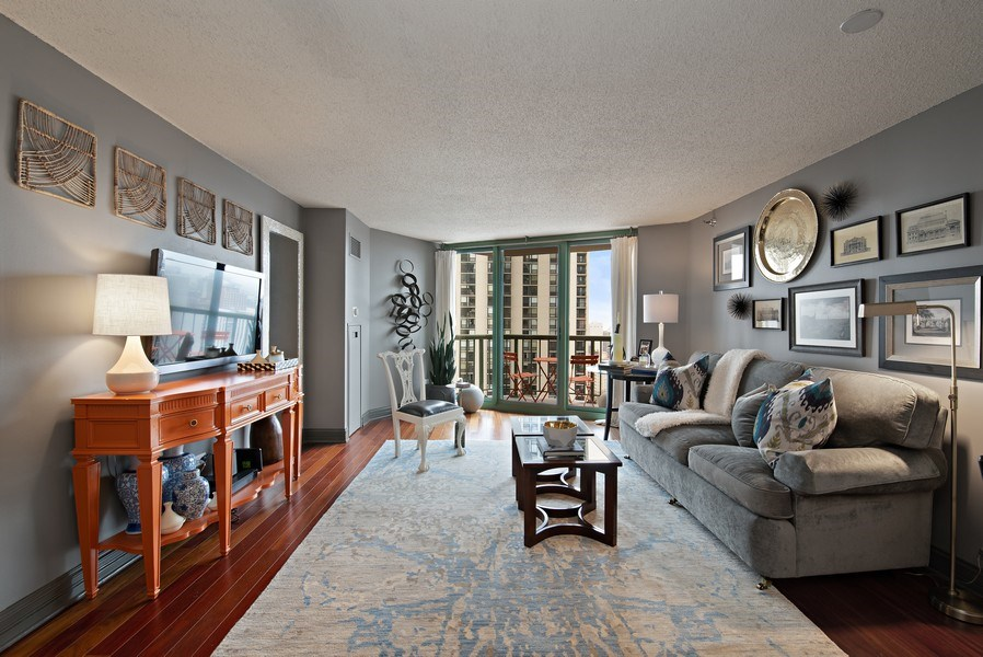 Real Estate Photography - 111 W. Maple, 2305, Chicago, IL, 60610 - Living Room