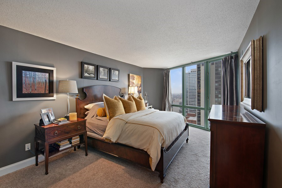 Real Estate Photography - 111 W. Maple, 2305, Chicago, IL, 60610 - Bedroom