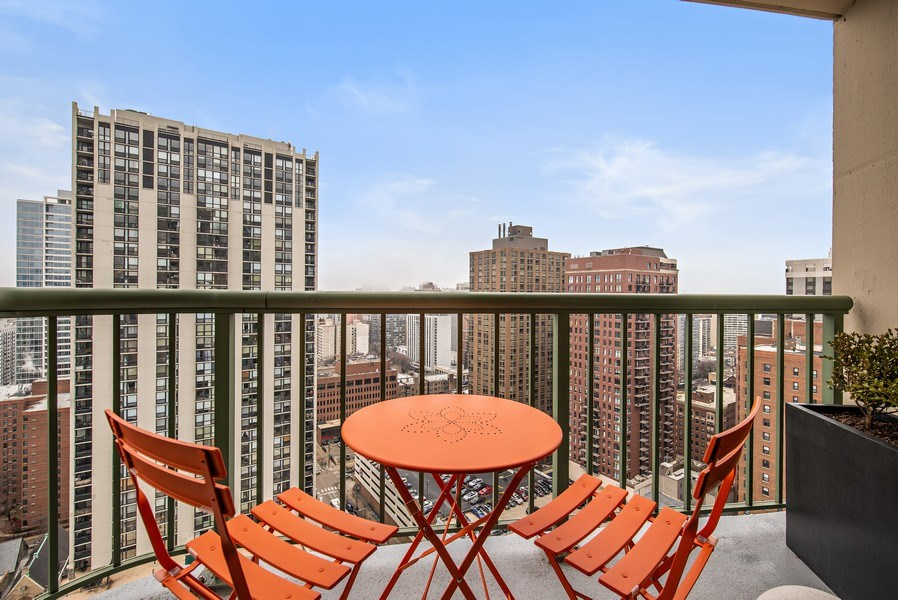 Real Estate Photography - 111 W. Maple, 2305, Chicago, IL, 60610 - Balcony