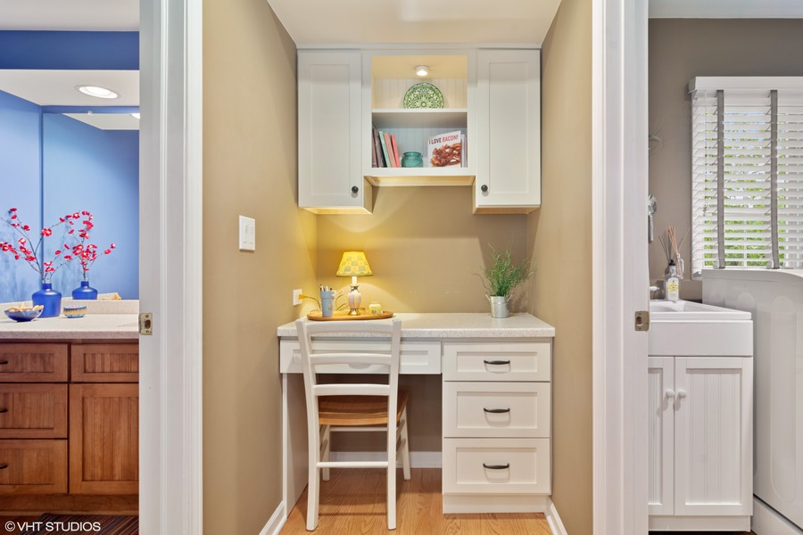 Real Estate Photography - 133 N Rammer, Arlington Heights, IL, 60004 - Desk Nook off Kitchen