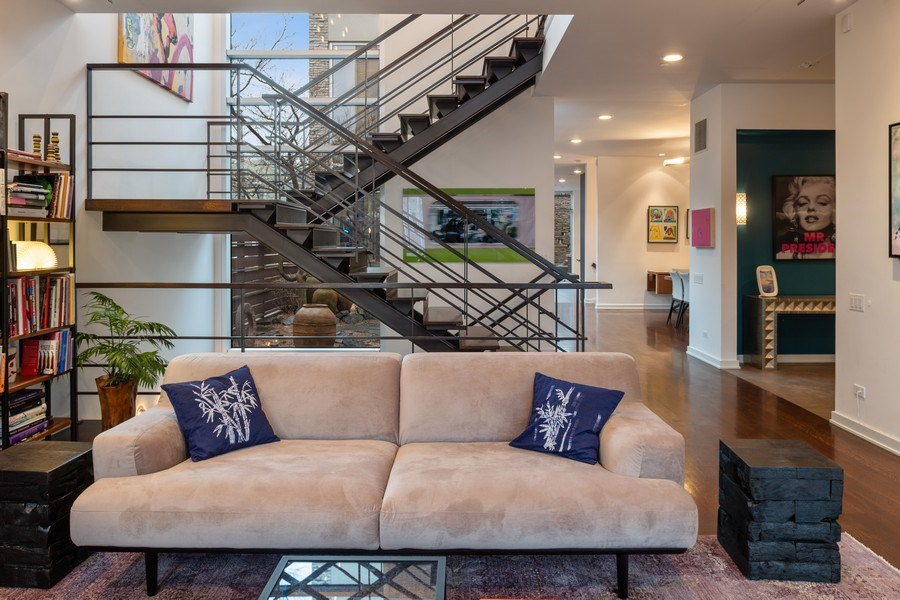 Real Estate Photography - 3310 N Leavitt Ave, Chicago, IL, 60618 - Living Room