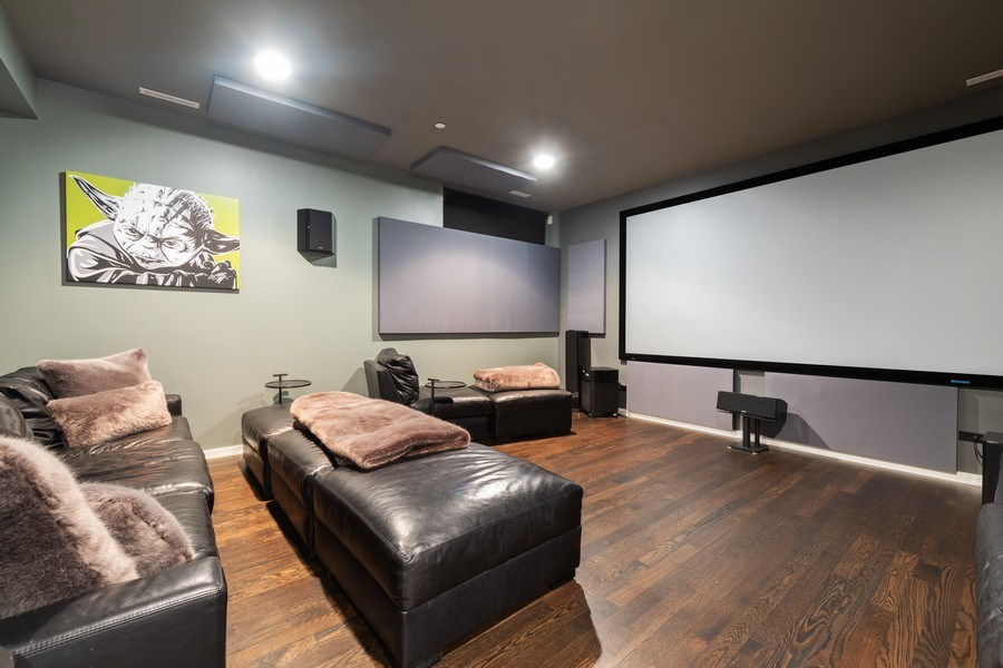 Real Estate Photography - 3310 N Leavitt Ave, Chicago, IL, 60618 - Media Room