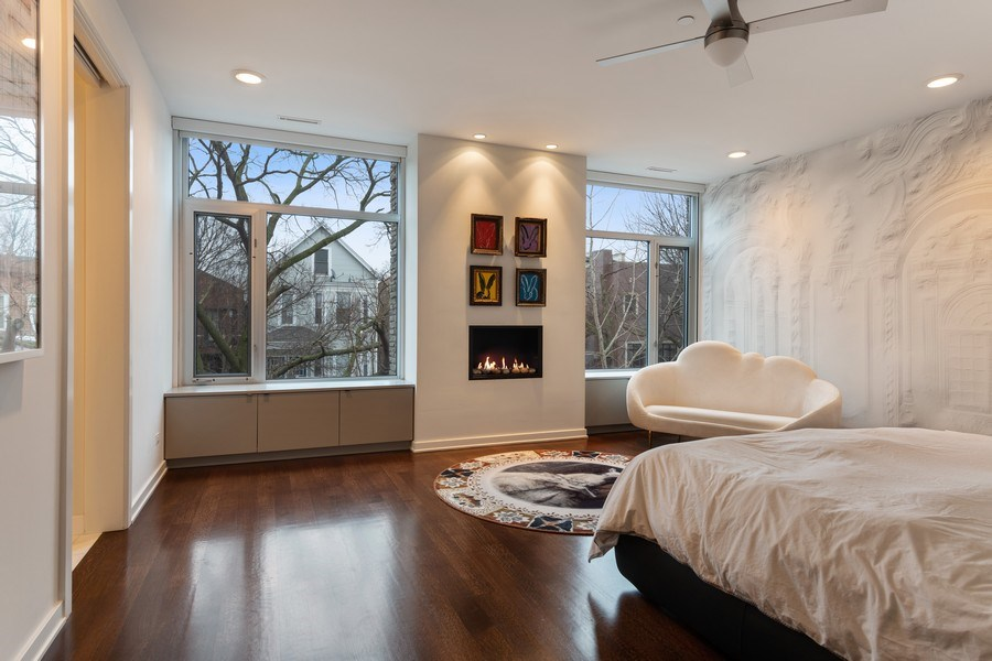 Real Estate Photography - 3310 N Leavitt Ave, Chicago, IL, 60618 - Master Bedroom
