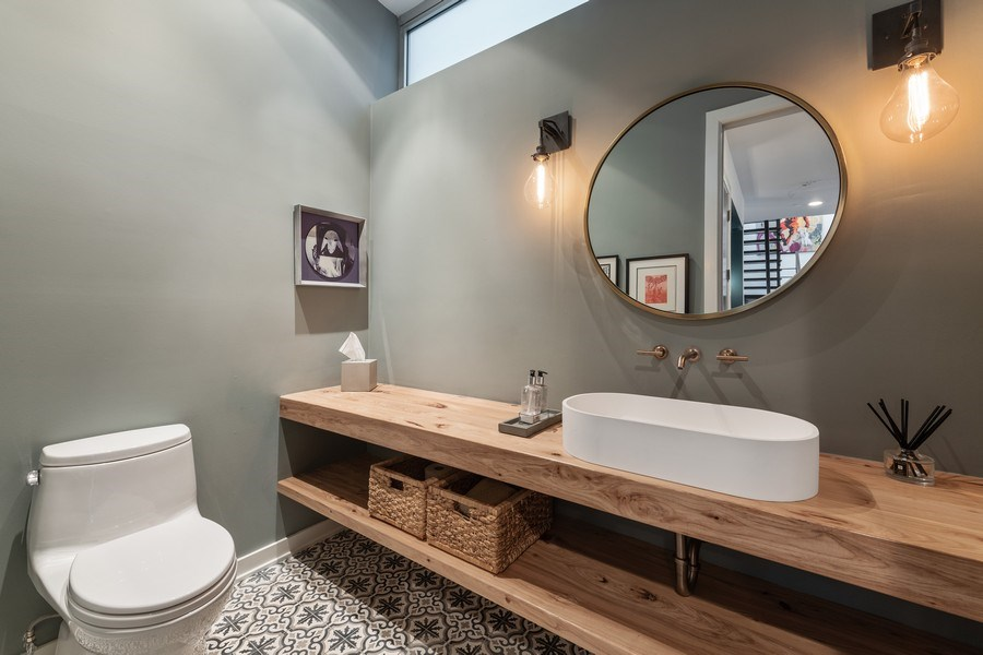Real Estate Photography - 3310 N Leavitt Ave, Chicago, IL, 60618 - Powder Room