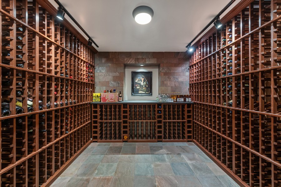 Real Estate Photography - 3310 N Leavitt Ave, Chicago, IL, 60618 - Wine Cellar