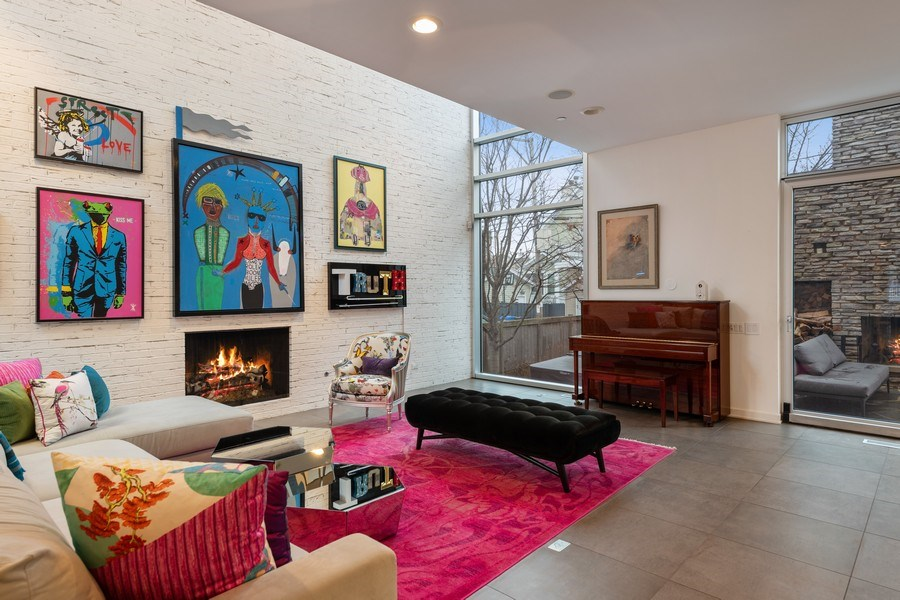 Real Estate Photography - 3310 N Leavitt Ave, Chicago, IL, 60618 - Family Room