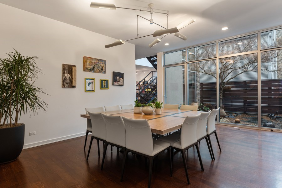 Real Estate Photography - 3310 N Leavitt Ave, Chicago, IL, 60618 - Dining Room