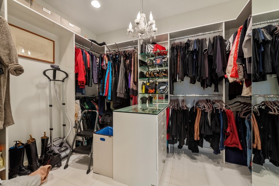 Real Estate Photography - 3310 N Leavitt Ave, Chicago, IL, 60618 - Master Bedroom Closet