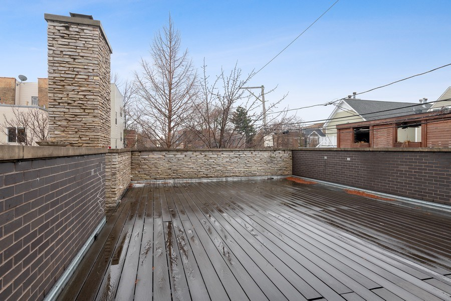 Real Estate Photography - 3310 N Leavitt Ave, Chicago, IL, 60618 - Garage Roof Deck