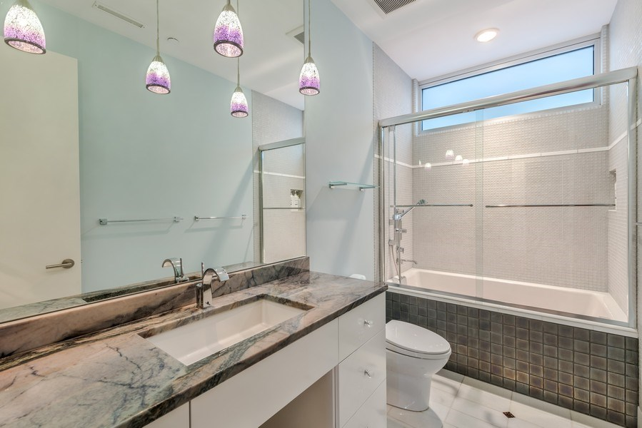 Real Estate Photography - 3310 N Leavitt Ave, Chicago, IL, 60618 - 2nd Bathroom