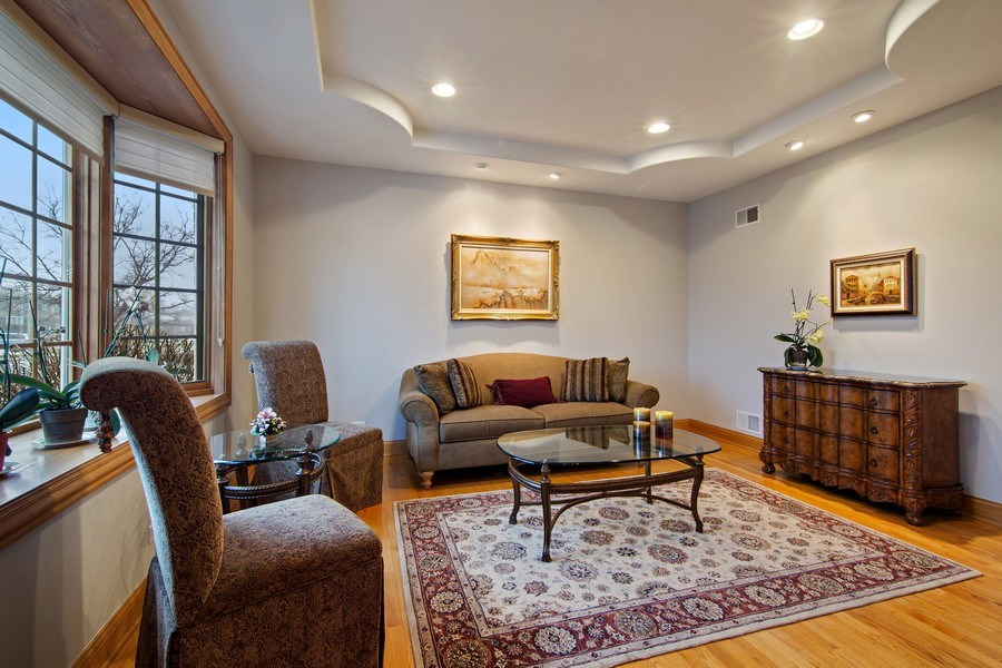 Real Estate Photography - 1200 Manzella Lane, Glenview, IL, 60025 - Living Room