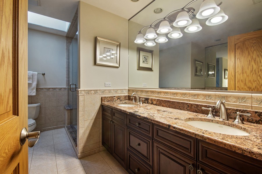Real Estate Photography - 1200 Manzella Lane, Glenview, IL, 60025 - 3rd Bathroom
