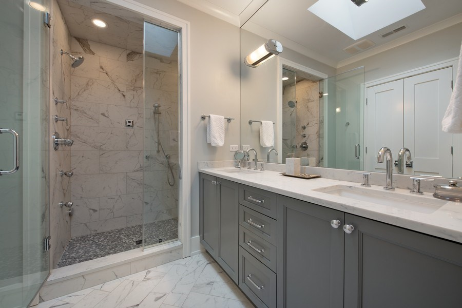 Real Estate Photography - 3943 N Hoyne Ave, Chicago, IL, 60618 - Master Bathroom