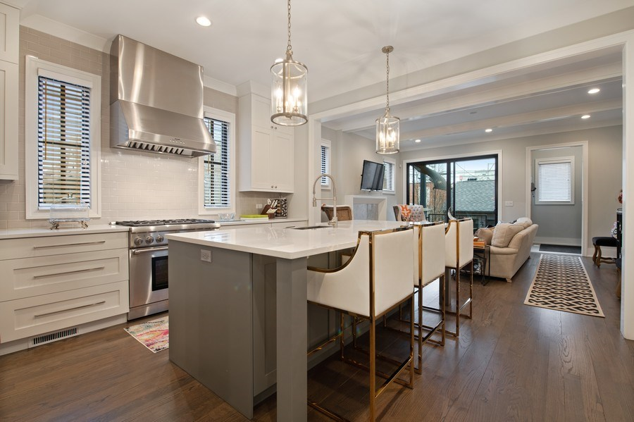 Real Estate Photography - 3943 N Hoyne Ave, Chicago, IL, 60618 - Kitchen