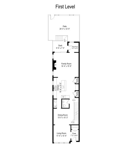 Real Estate Photography - 3943 N Hoyne Ave, Chicago, IL, 60618 - Floor Plan