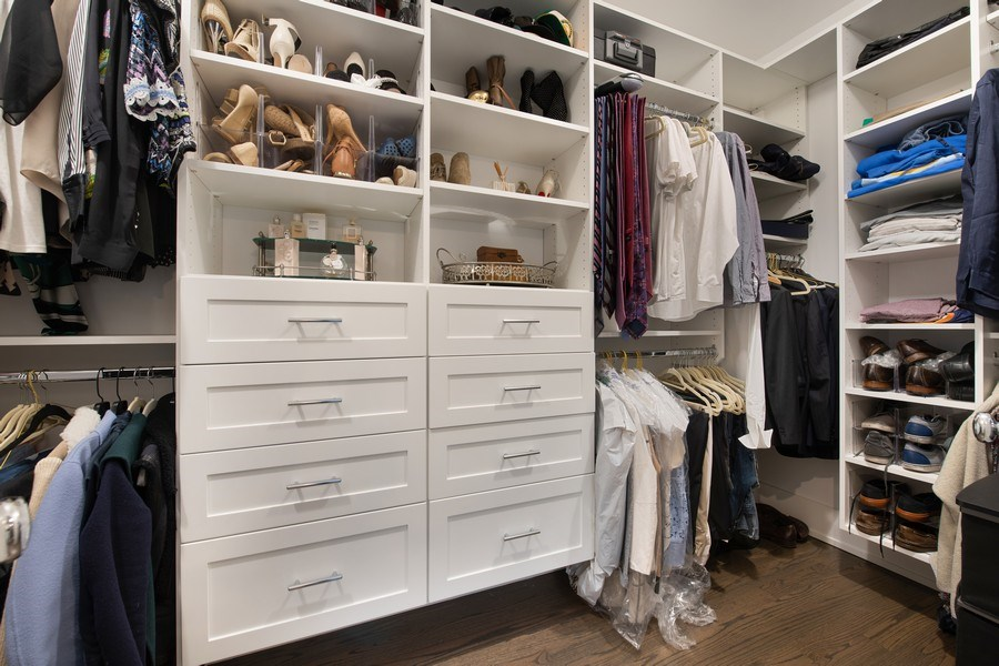 Real Estate Photography - 3943 N Hoyne Ave, Chicago, IL, 60618 - Master Bedroom Closet