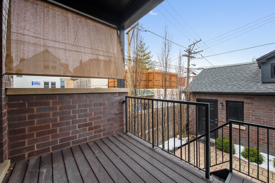 Real Estate Photography - 3943 N Hoyne Ave, Chicago, IL, 60618 - Deck