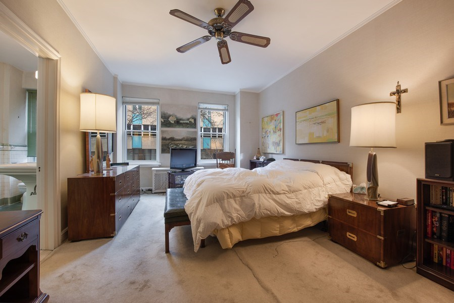 Real Estate Photography - 2912 N Commonwealth, Unit 1A, Chicago, IL, 60657 - Master Bedroom