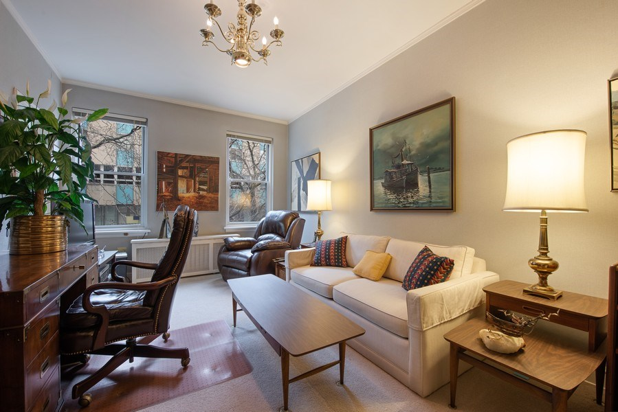 Real Estate Photography - 2912 N Commonwealth, Unit 1A, Chicago, IL, 60657 - 2nd Bedroom