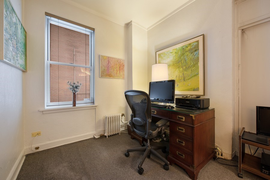 Real Estate Photography - 2912 N Commonwealth, Unit 1A, Chicago, IL, 60657 - 3rd Bedroom