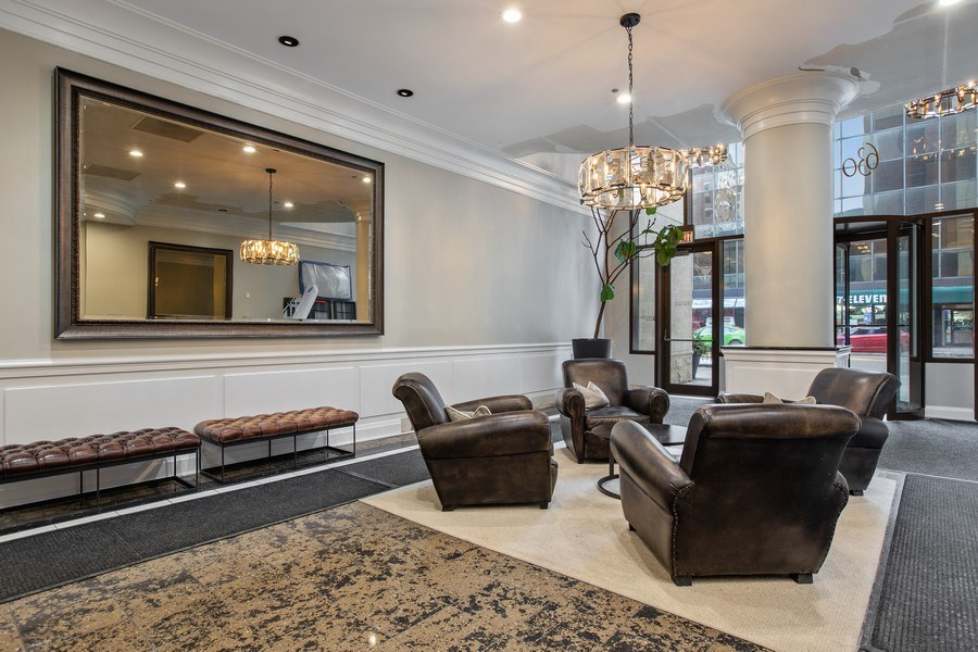Real Estate Photography - 630 N State, Unit 2410, Chicago, IL, 60611 - Lobby