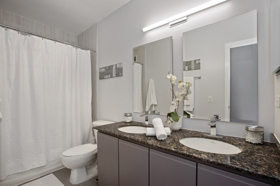 Real Estate Photography - 630 N State, Unit 2410, Chicago, IL, 60611 - Master Bathroom
